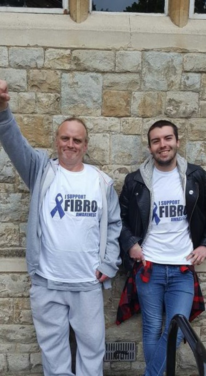 My boyfriends Run for Fibromyalgia